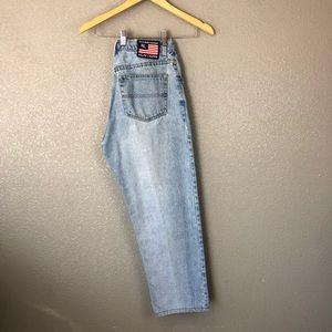 Vintage Ralph Lauren 90's Flag mom jeans sz 14